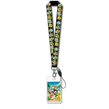 Lanyard - Disney - Mickey & Gang Black w/ Card Holder New Gifts Toys 24888 ()