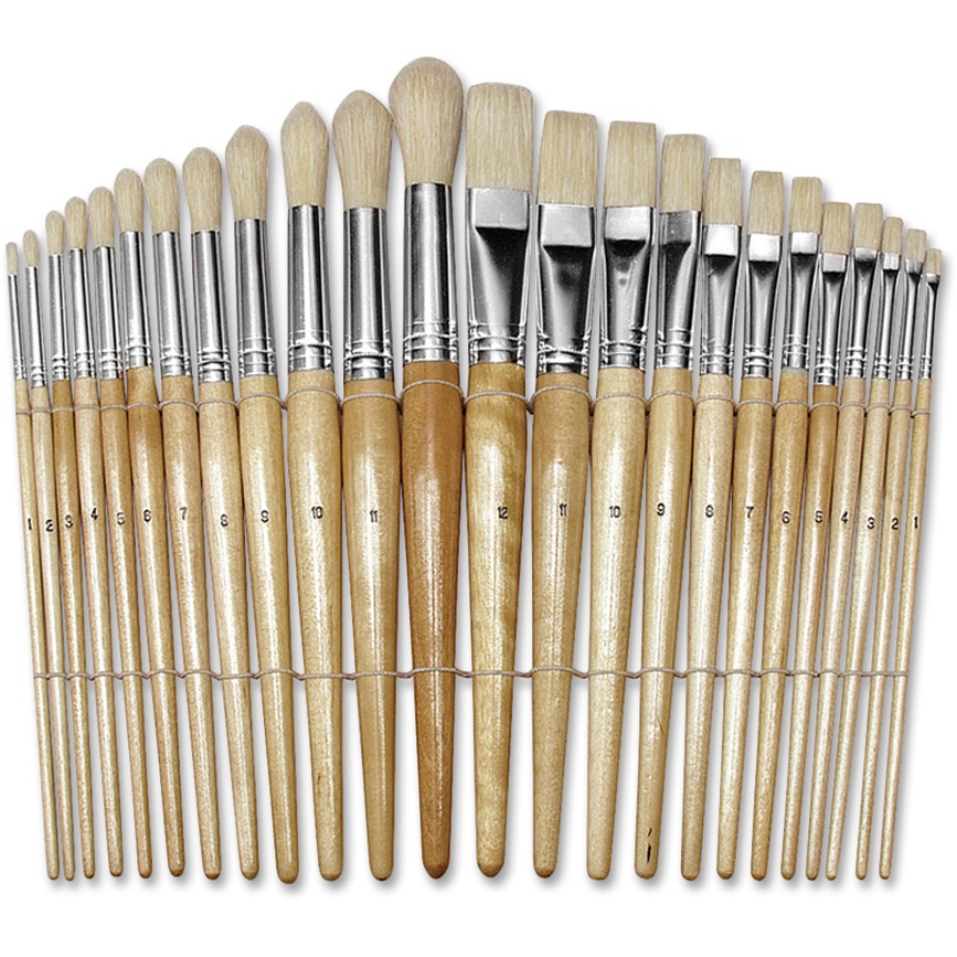 Creativity Street Preschool Brush Set, Natural, 24 / Set (Quantity)