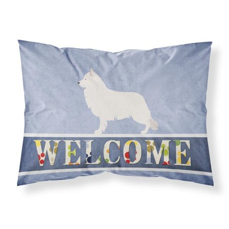 Carolines Treasures BB8292PILLOWCASE Berger Blanc Suisse Welcome Fabric Standard Pillowcase - image 1 de 1