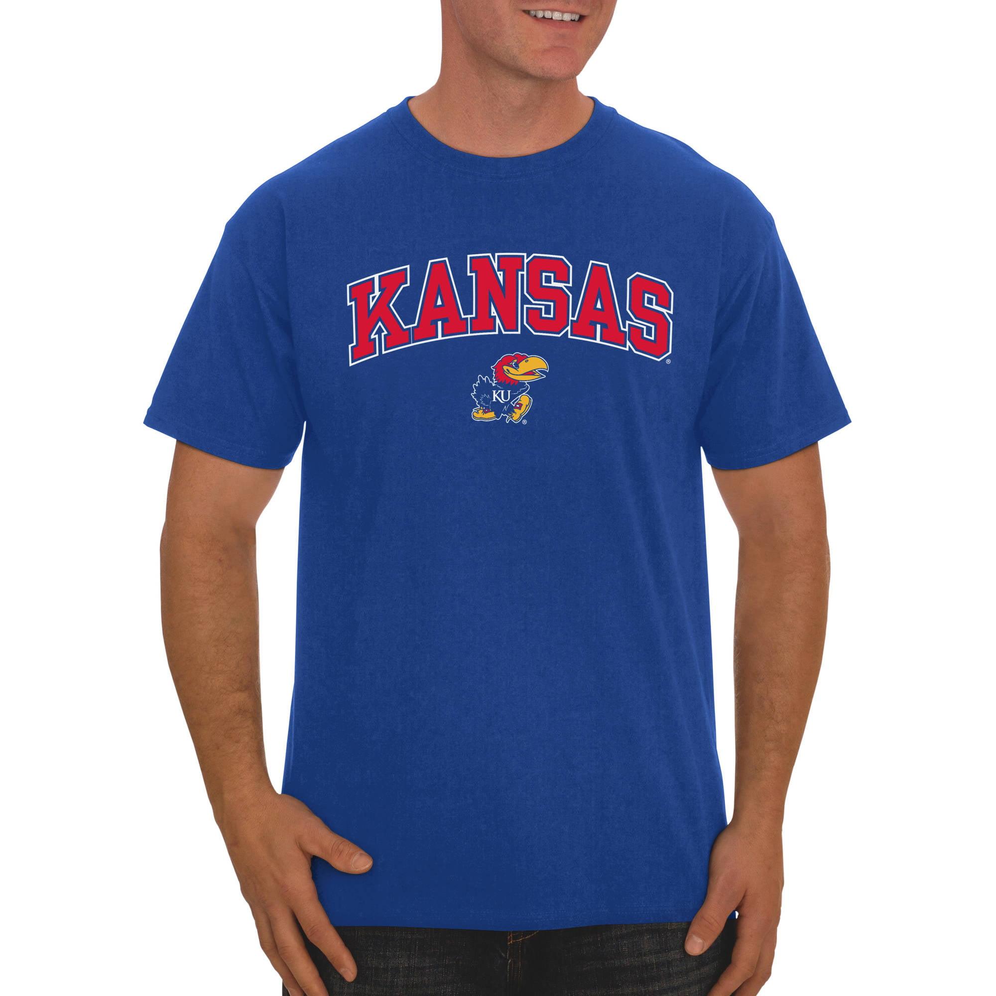 Russell NCAA  Kansas Jayhawks, Men's Classic Cotton T-Shirt