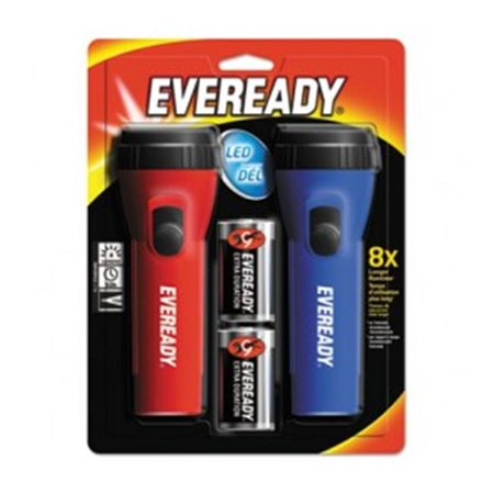 Eveready Battery L152S LED Economy Flashlight, Red & Blue