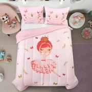 Heritage Club Pink Dancing Ballerina Comforter Set