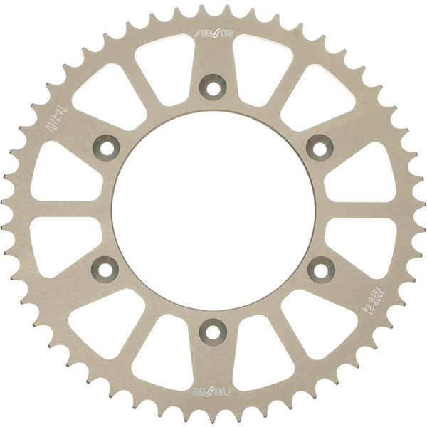 Sunstar Aluminum Works Triplestar Rear Sprocket 53 Tooth Fits 99-12 Yamaha YZ125