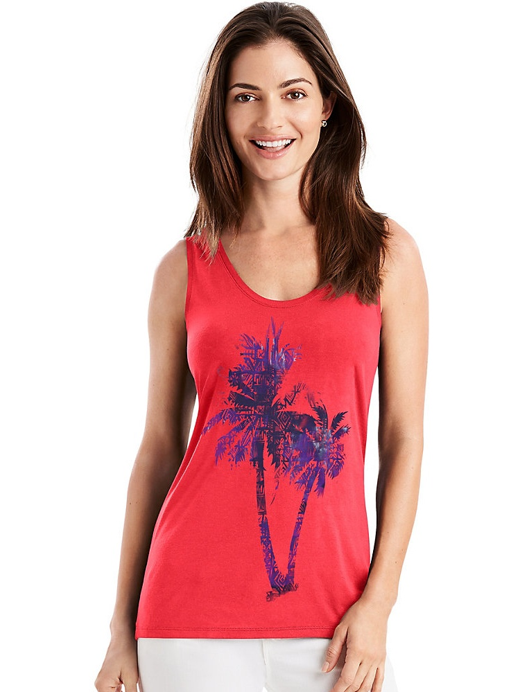 Hanes Women's Pattern Palm Voop Tank M