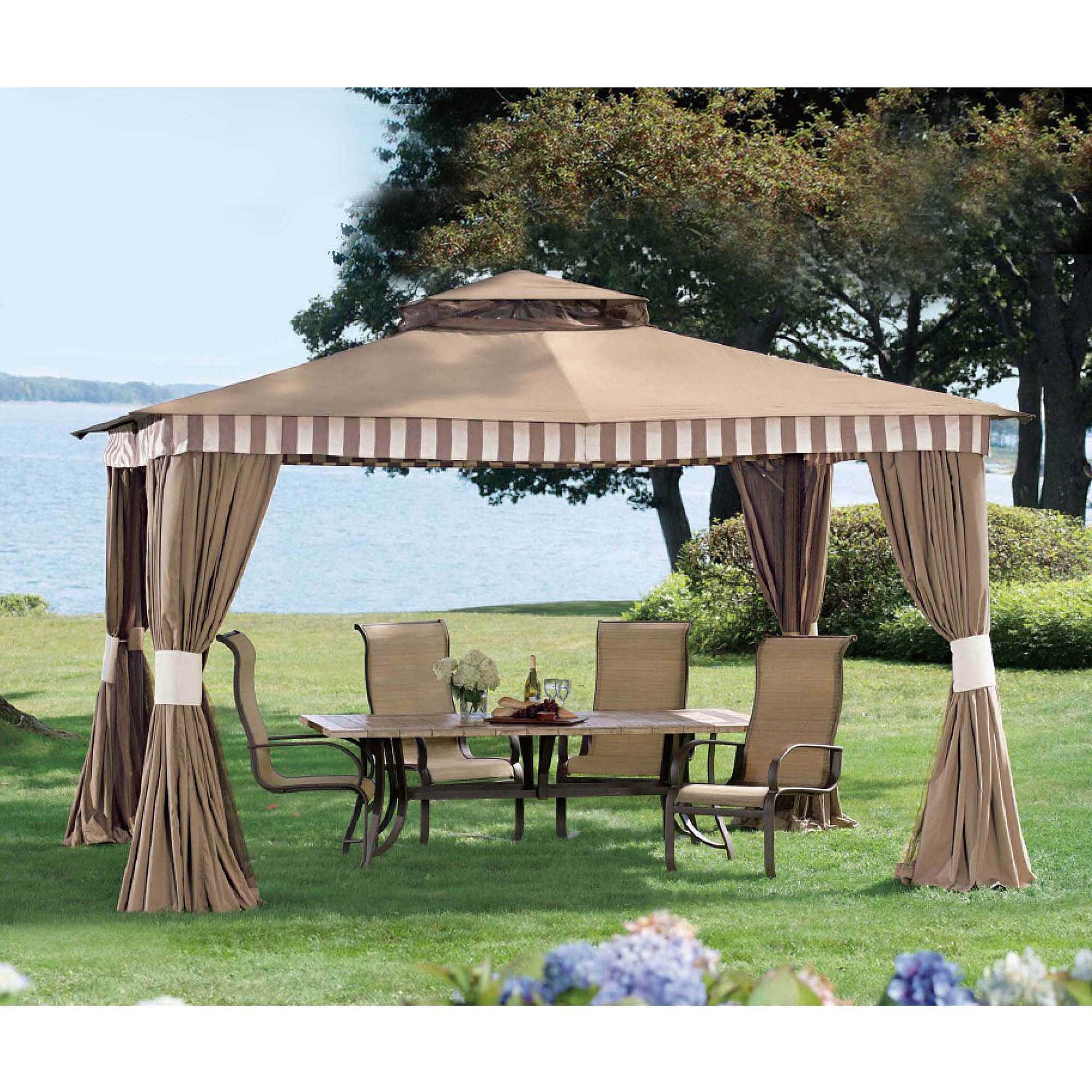 Sunjoy Banner Gazebo, Brown