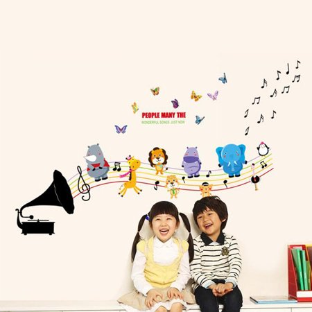 Wall Decoration Sticker Cartoon Wall Decals DIY Removable Wallpaper Children's Room Bedroom Kindergarten Classroom Layout Toddler Kids - image 4 de 8