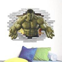 New HOT 3D Removable The Green Avengers Hulk wall Waterproof decals Art PVC Children Room decor wall sticker kids gift Living Room