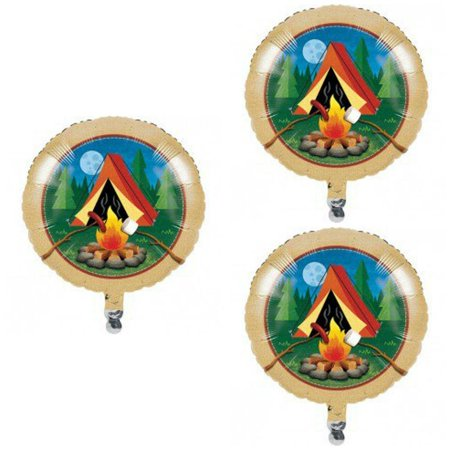 Camp Out Camping 3 pack Foil Balloons - 18