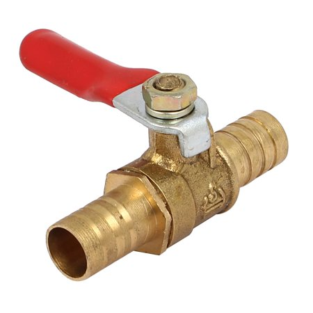 10mm Dia Hose Barb Plug Lever Handle Ball Valve Pipe Connector Joint Fitting