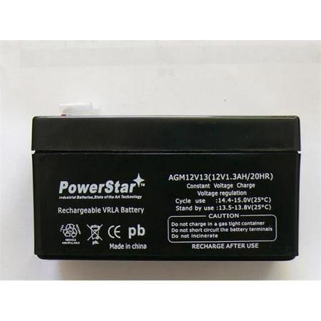PowerStar AGM1213 12V 1.3Ah Battery Replaces SLA1005 1.2Ah NP1.2-12 BP - 2 Year Warranty - image 1 de 1