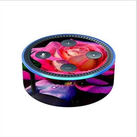 Skin Decal Vinyl Wrap For Amazon Echo Dot 2  2Nd Generation    Beautiful Rose Flower Pink Purple
