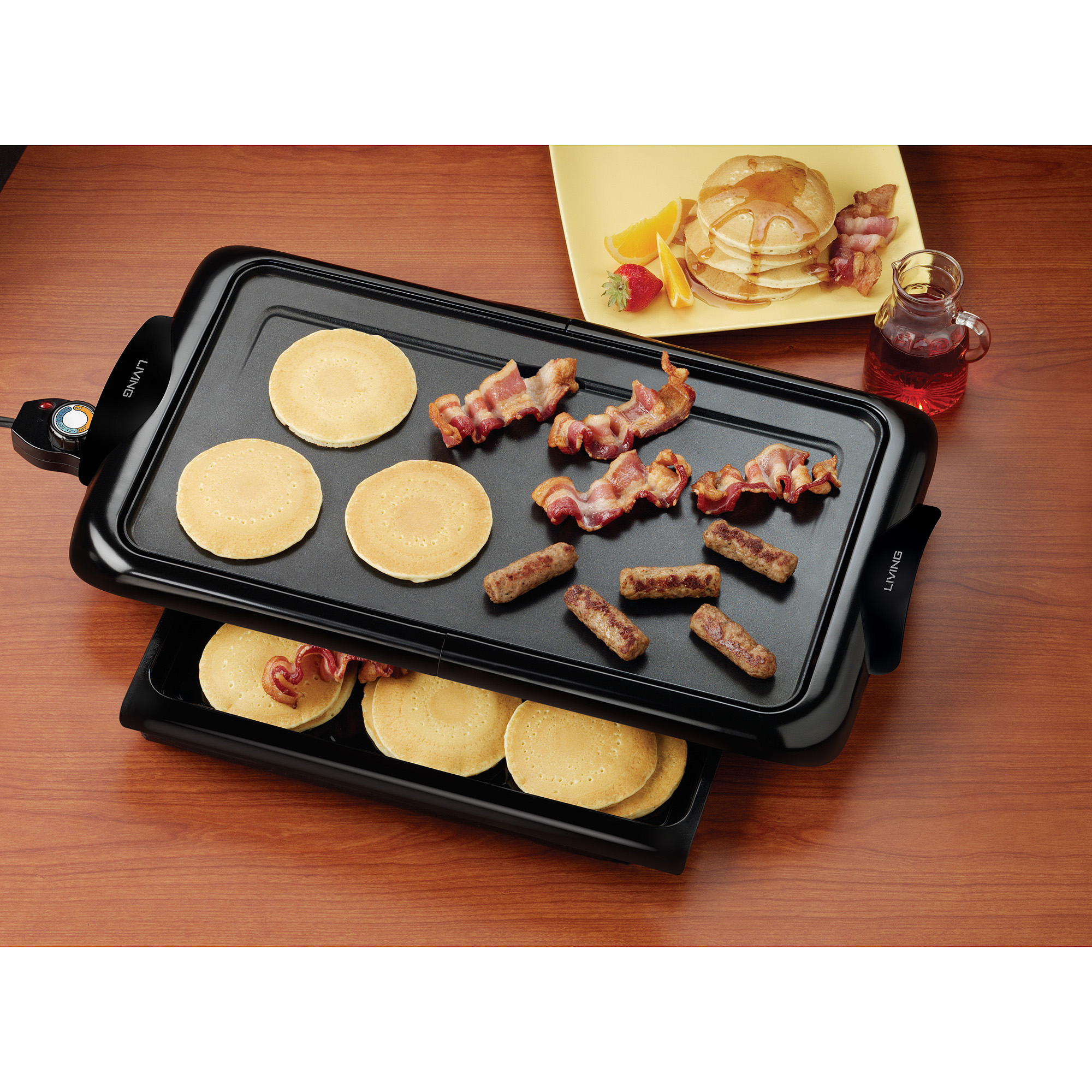Nostalgia Electrics Living by Nostalgia Non-stick Griddle with Warming Drawer, NGD200