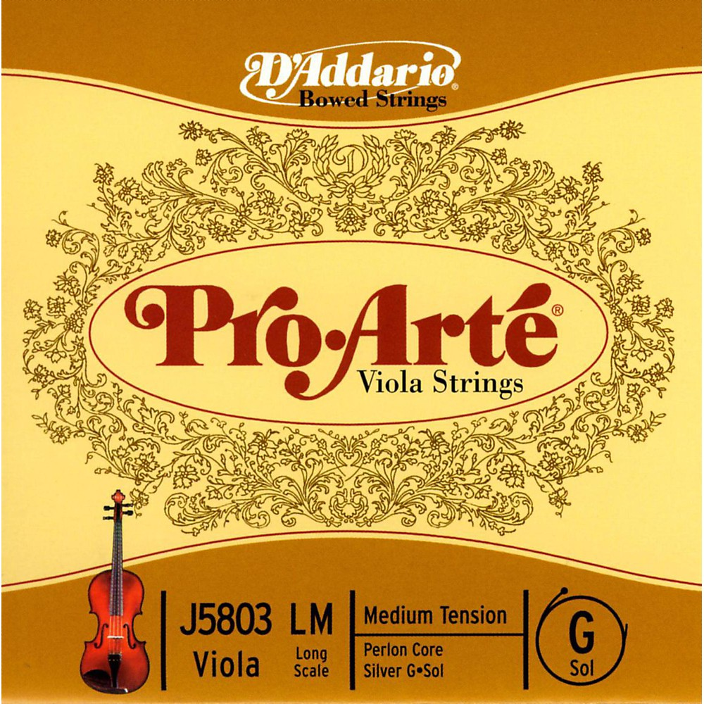D'Addario Pro-Art Series Viola G String 16  Long Scale