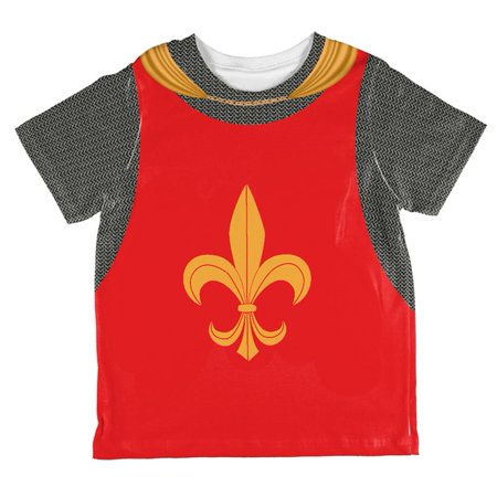 Halloween Knight Fleur-De-Lis Armor Costume All Over Toddler T - Disfraces Baratos De Halloween