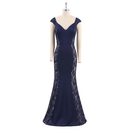 434deaa5a90b Ever-Pretty - Ever-Pretty Women s V Neck Fishtail Vintage Lacey Evening  Ball Gowns Cocktail Prom Dresses for Women 07279 US 16 - Walmart.com