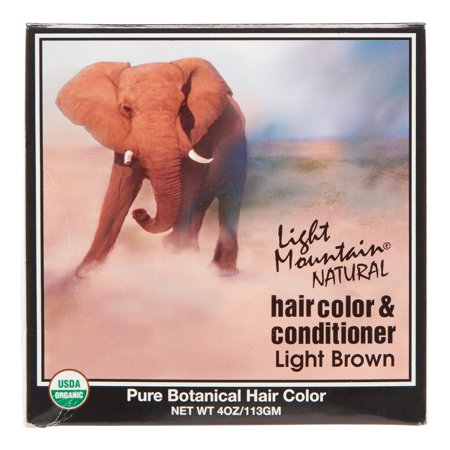 Lotus Brands Light Mountain Natural Hair Color & Conditioner, 4