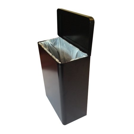S.A.C. Sanitary Napkin Receptacle, Black Steel