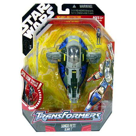 Star Wars Saga '06 Transformers Action Figure Jango Fett to Slave 1](Star Wars Jango Fett)