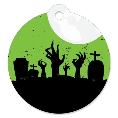 Zombie Zone - Halloween or Birthday Zombie Crawl Party Favor Gift Tags (Set of 20)