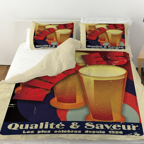 Manual Woodworkers & Weavers Bieres Qualite and Saveur Duvet Cover
