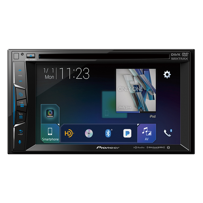 "Pioneer AVH-1440NEXMultimedia DVD Receiver with 6.2"" WVGA Display, Apple CarPlayTM, Built-in Bluetooth®, HD Radio™ Tuner, SiriusXM-Ready™ and AppRadio Mode +"