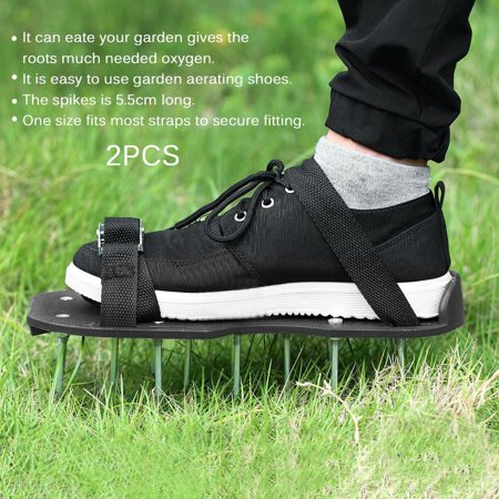 2pcs/set Epoxy Aerating Spikes Shoes Garden Lawn Shoe with 3 ...