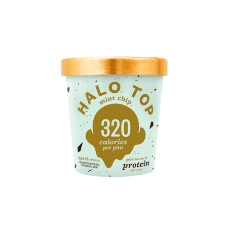 Halo Top, Mint Chip Ice Cream, Pint (8 Count)