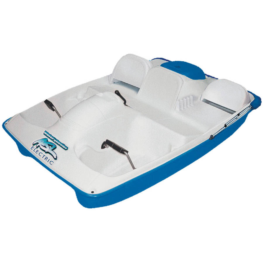 Water Wheeler 2-Man ASL Electric Pedal Boat with Canopy, Blue by KL Industries