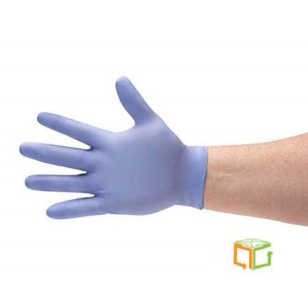 Blue Nitrile Powder Free Gloves Disposable Economy Glove Size: X-Large - 300 Pieces (3 Boxes)