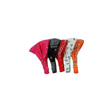 5 assorted paisley print wide bandana headbands from coveryourhair - Walmart .com 14acaf40649