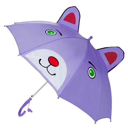 3D Kids Character Umbrella with Safetly Whistle ()