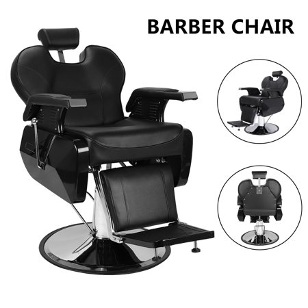 Zimtown Barber Chair, All Purpose Hydraulic Recline Salon Chair hairdressing furniture, for Beauty Salon, Spa, Shampoo Hair Styling (Recline Shampoo Chair)
