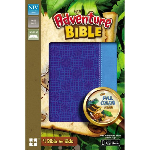 Adventure Bible: New International Version, Electric Blue / Ocean Blue, Italian Duo-Tone