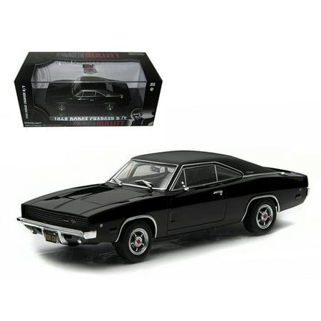 "1968 Dodge Charger Black R/T Steve McQueen ""Bullitt"" Movie (1968) 1/43 Diecast Model Car by Greenlight"