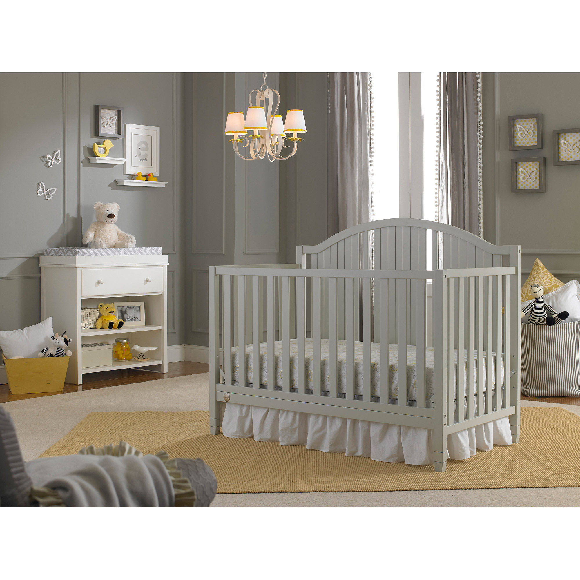 Fisher-Price Caitlin 4-in-1 Fixed-Side Convertible Crib, Choose Your Finish
