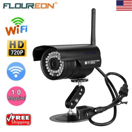 FLOUREON 720P Waterproof IP66 WLAN Wireleess 1.0 Megapixel Security CCTV WiFi IP Camera TF Slot