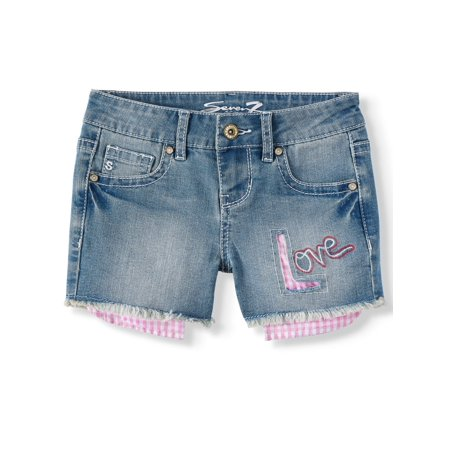 Love Life Short (Seven7 Gingham Love Cutoff Denim Short (Big Girls))