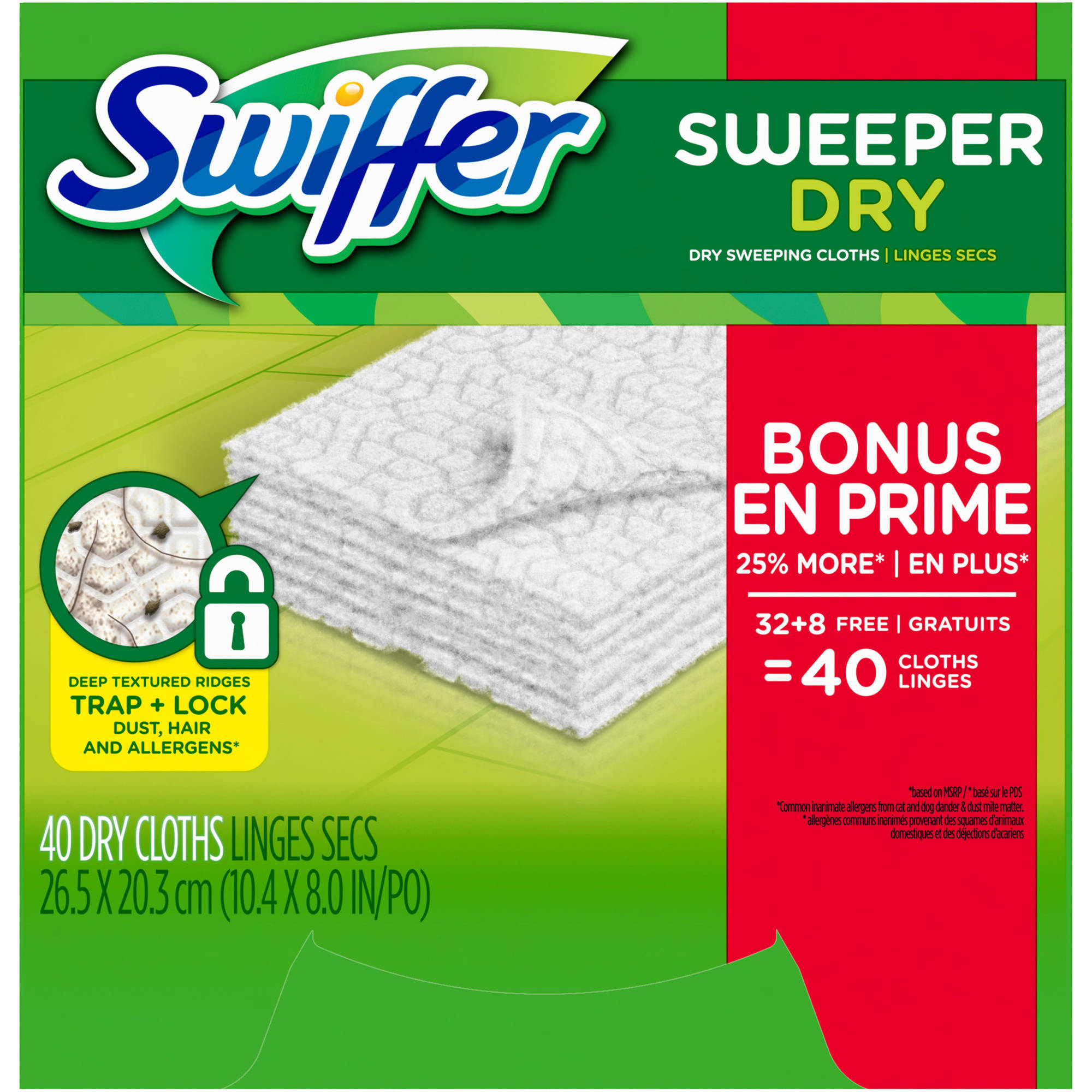 Swiffer Sweeper Dry Sweeping Cloth Refills, 40 count