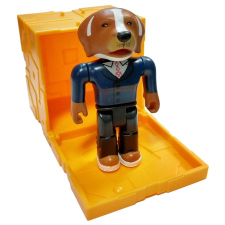 Roblox Series 5 White Collar Dog Mini Figure [with Gold Cube and Online Code] [No Packaging]