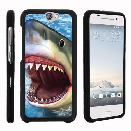 TurtleArmor ® | For HTC One A9 | HTC Aero [Slim Duo] Two Piece Hard Cover Slim Snap On Case - Shark (Snap Best Of Snap Attack)