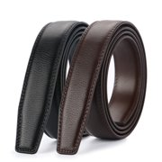 Costyle New Style Comfort Click Belt Men Automatic Adjustable Leather Belts without Buckle, Black