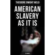 American Slavery as It is: Testimonies - eBook