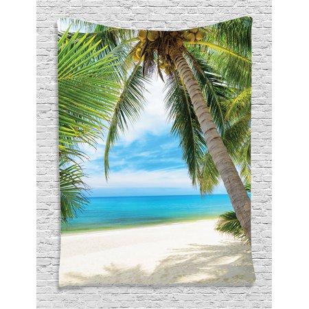 Ocean Coconut Palm Tree Tapestry Wall Hanging for Living Room Bedroom Dorm
