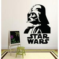 Darth Vader Star Wars Logo Movie Series Children Kids Bedroom Boy Girl Silhouette Custom Wall Decal Vinyl Sticker 12 Inches X 12 Inches