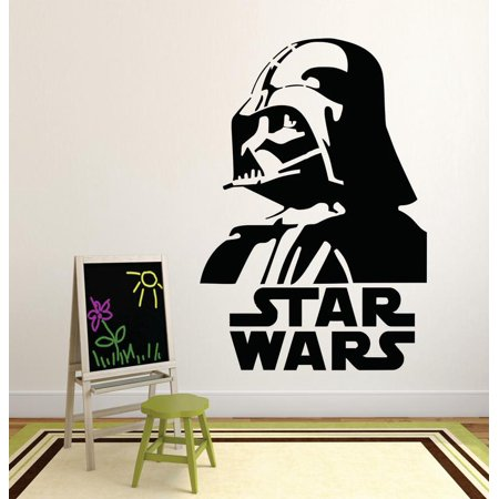 Darth Vader Star Wars Logo Movie Series Children Kids Bedroom Boy Girl Silhouette Custom Wall Decal Vinyl Sticker 12 Inches X 12 Inches
