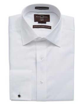 Classic Fit Ribbed French Cuff Dress Shirt