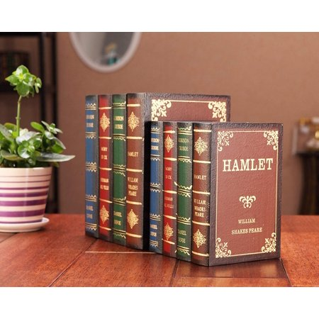 Wooden Antique Book Box Vintage Decorative Storage Boxes for Girls Women Men Gifts Home Office Collection Shelf - Vintage Halloween Book Boxes