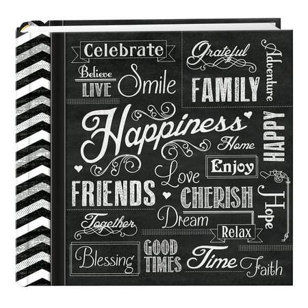 Pioneer Photo Albums Chalkboard 200 pkt 4x6 Photo Album, Happiness