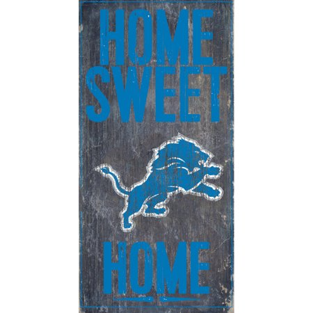 Detroit Lions 6'' x 12'' Home Sweet Home Sign - No - Detroit Lions House