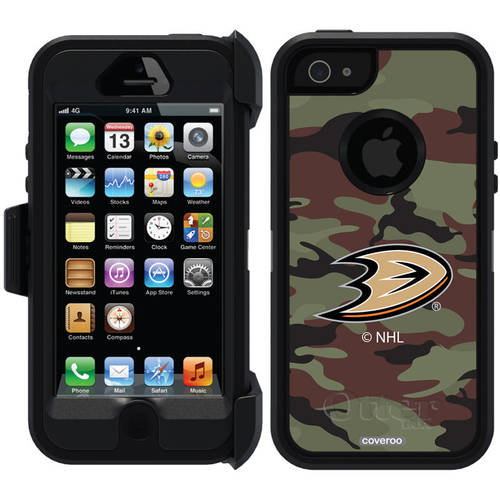 Anaheim Ducks Traditional Camo Design on OtterBox Defender Series Case for Apple iPhone 5/5s